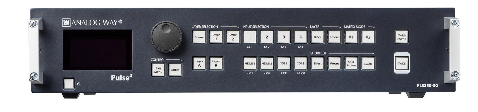 Analog Way PLS350-H Seamless HDBaseT Switcher/Mixer